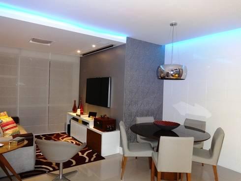 Sala iluminada por l cia vale interiores homify for Amoblar departamentos pequenos