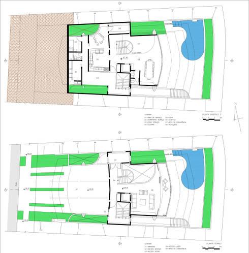 Residência Otávio Gimenes II: Casas modernas por Douglas Piccolo Arquitetura e Planejamento Visual LTDA.