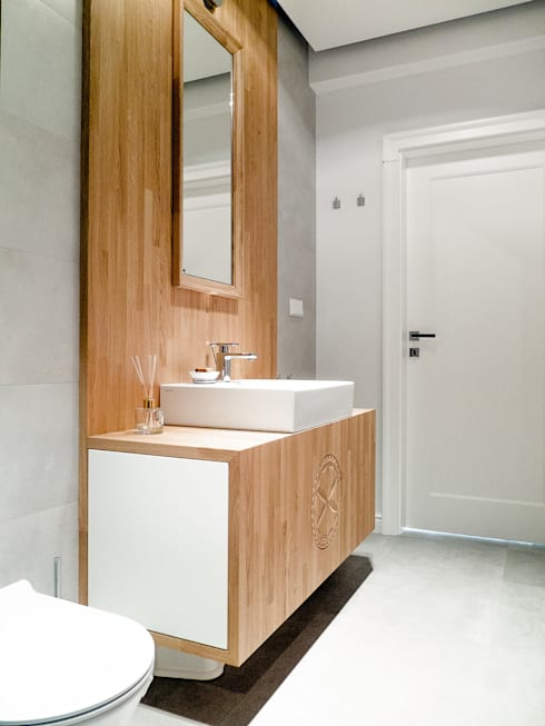 Apartament w Zakopanem - łazienka: styl , w kategorii Łazienka zaprojektowany przez Jacek Tryc-wnętrza