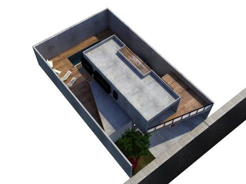 Vista aérea: Terraços  por Ateliê São Paulo Arquitetura