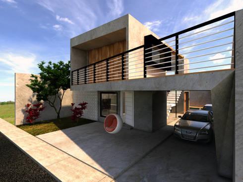 Fachada: Garagens e edículas modernas por Ateliê São Paulo Arquitetura