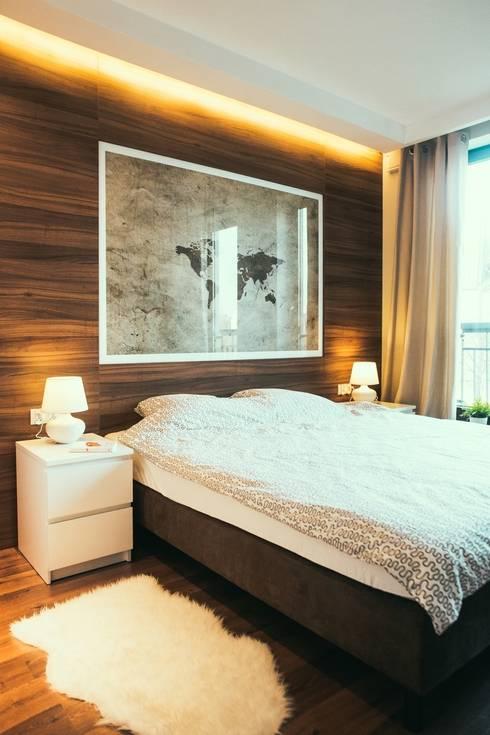 Gdańsk, ul.Szafarnia: styl , w kategorii Sypialnia zaprojektowany przez Raca Architekci