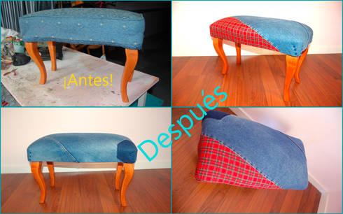 Tapicerías antes-después muebles recuperados by Amarquimia de ...