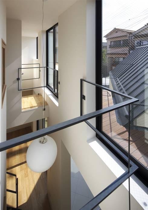 寝屋川の家 Huse of Neyagawa: 林泰介建築研究所が手掛けたテラス・ベランダです。