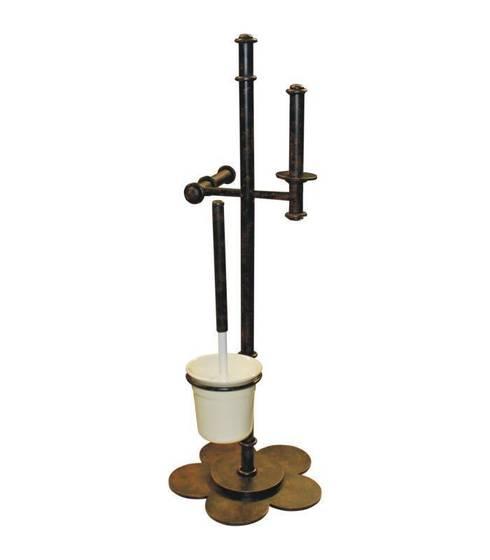 Portarrollos escobillero de baño. Accesorios baños diseño básico: Baños de estilo rústico de Artehierro