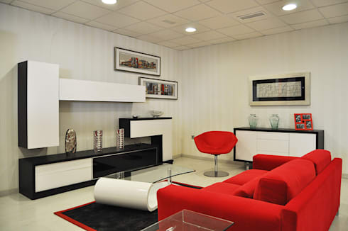 Salón diseño moderno: Salones de estilo moderno de Diseño y Fabricación de Muebles Julián Muñoz