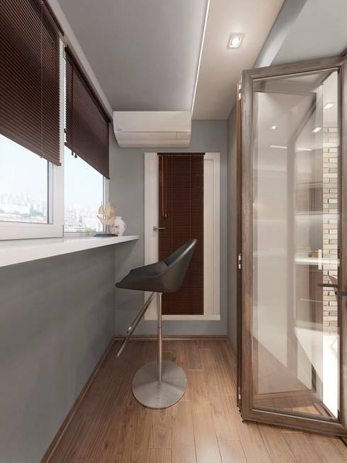 Дизайн-проект интерьера балкона.: Tерраса в . Автор – ИнтеРИВ