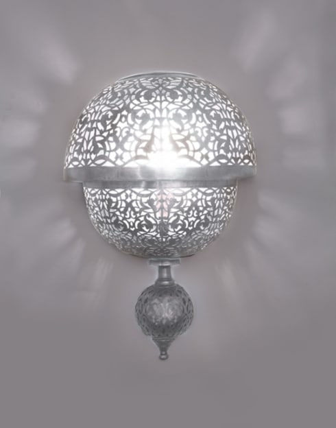 Items for sale moroccan wall lights by moroccan bazaar homify circular pierced wall light in silver aloadofball Images