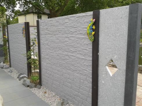 Betonzäune deluxe betonzäune zur terrassenabtrennung by morganland homify