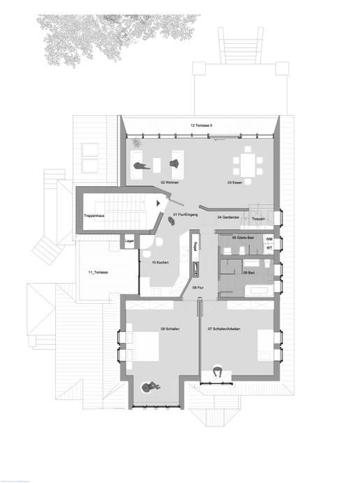 1. Dachgeschosseben:   von rundzwei Architekten