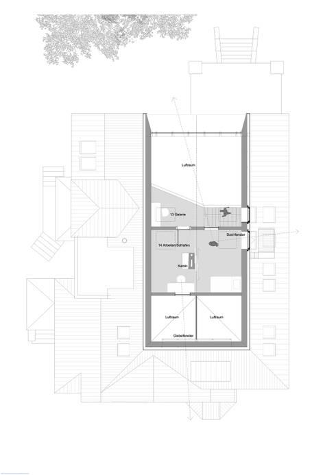 2. Dachgeschossebene:   von rundzwei Architekten