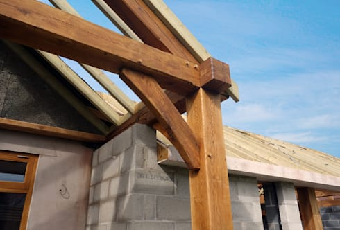 Oak Timber Frame House Extension, Gatley, Cheshire, Manchester by ...