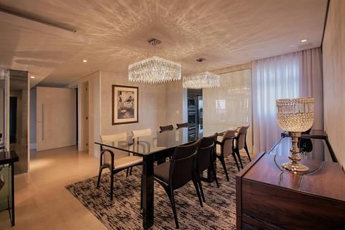 projeto  FT : Salas de jantar modernas por Camila Bruzamolin - arquitetura