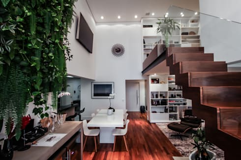 Apartamento Campo Belo: Salas de jantar modernas por SP Estudio