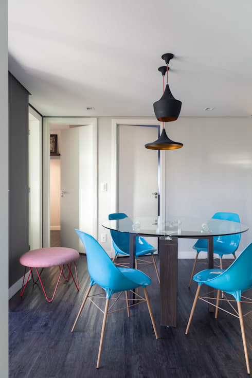 Apartamento JG: Salas de jantar modernas por Moove Arquitetos