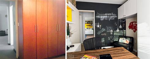 PROJETO HOME OFFICE APARTAMENTO MB – Tristeza/ Porto Alegre:   por Ambientta Arquitetura