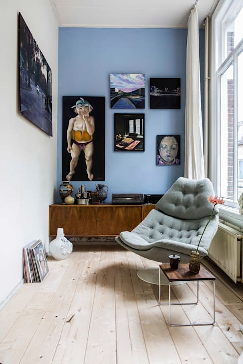 interieur- en kleuradvies: eclectische Woonkamer door studio zipp