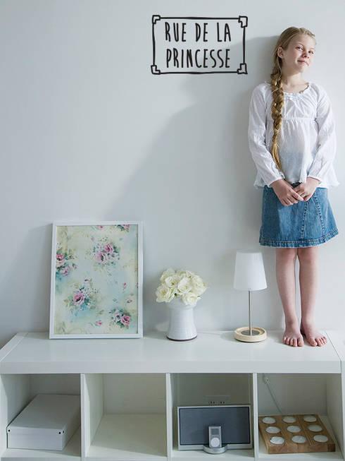 Спальная комната  в . Автор – Petit Vinilo