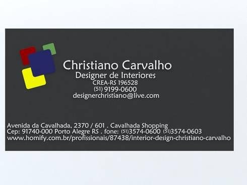 cartão:   por Interior Design Christiano Carvalho