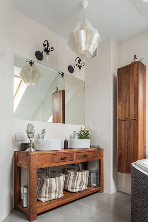 dom 115m2: styl , w kategorii Łazienka zaprojektowany przez Projekt Kolektyw Sp. z o.o.