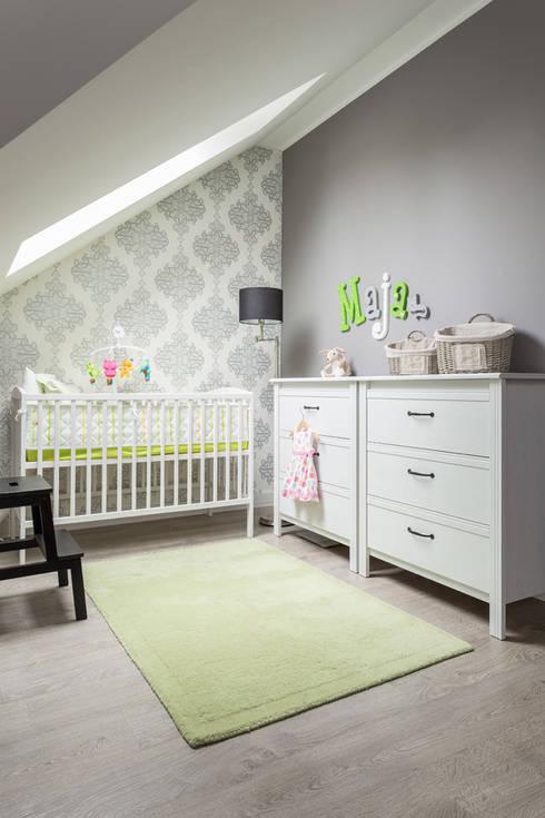 dom 115m2: styl , w kategorii Pokój dziecięcy zaprojektowany przez Projekt Kolektyw Sp. z o.o.