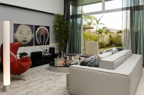 LIVING: Salas de estar modernas por criarprojetos | ARQUITETURA . INTERIORES . ENGENHARIA