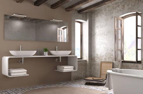Mueble Essence C doble lavabo: Baños de estilo moderno de Astris