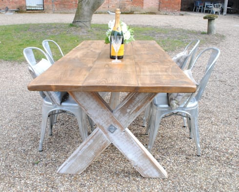 Handmade X frame table. X Frame Bespoke Dining Tables to order by Dove and Grey   homify