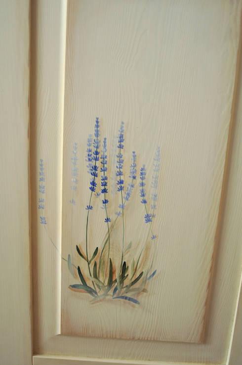 Fronty kuchenne ręcznie malowane.: styl , w kategorii Kuchnia zaprojektowany przez 'Rustykalnia'  Sztuka Wnętrza