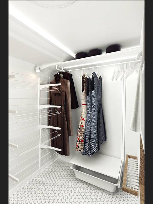 غرفة الملابس تنفيذ IK-architects