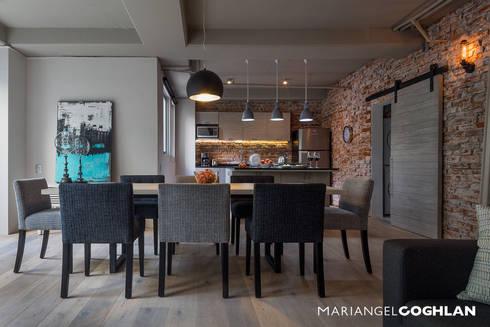 Comedor: Comedores de estilo industrial por MARIANGEL COGHLAN