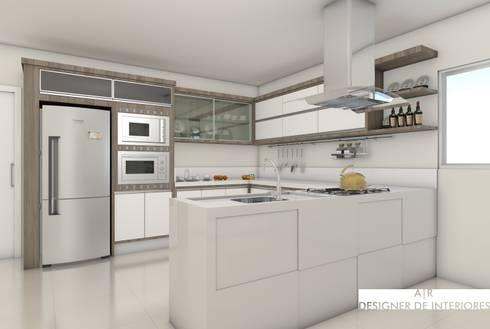 Cozinha Luxuosa : Cozinhas modernas por A|R DESIGNER DE INTERIORES