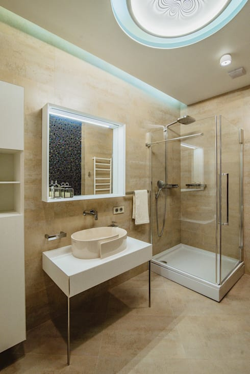 Квартира Бухта Мечты: Ванные комнаты в . Автор – INCUBE Алексея Щербачёва