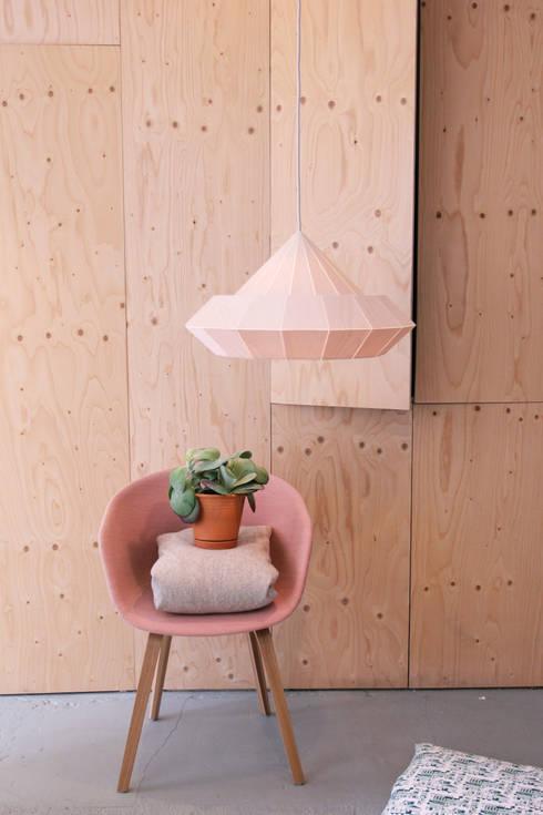 De nieuwe houten Woodpecker lamp: scandinavische Woonkamer door Snowpuppe