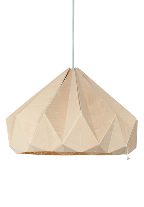 Studio Snowpuppe origami handgevouwen lampen en de nieuwe houten ...