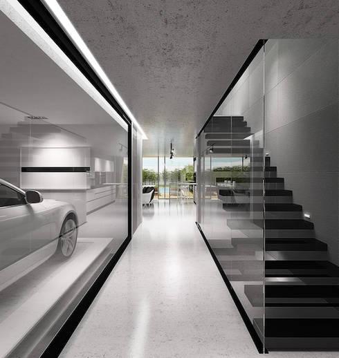 Hall Entrada: Corredores e halls de entrada  por HRA-Lisboa