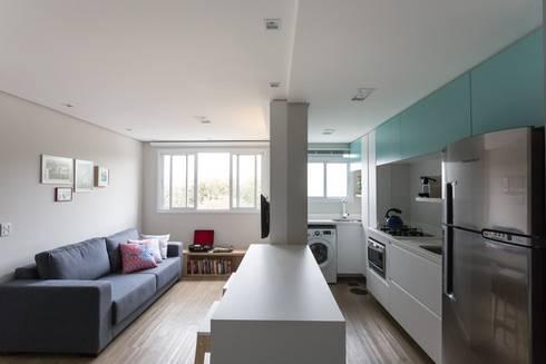 Apartamento CB: Salas de estar modernas por Moove Arquitetos