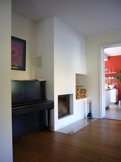 Kaminzimmer: moderne Wohnzimmer von ketterer innenarchitektur