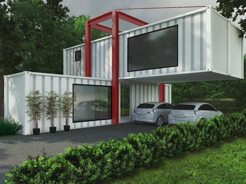 Casa Container: Casas industriais por eduardopetry