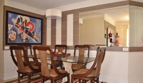 Sala de jantar:   por Ésse Arquitetura e Interiores