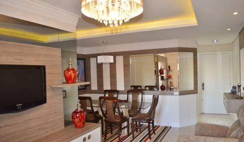 Sala estar e jantar:   por Ésse Arquitetura e Interiores