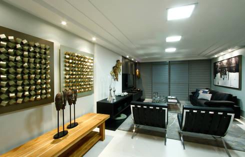 Sala estar/jantar dos anjos: Salas de estar modernas por Celia Beatriz Arquitetura