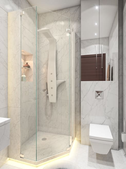 apartment of 32sq.m.: Ванные комнаты в . Автор – Entalcev Konstantin