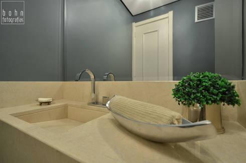 Projeto lavabo contemporâneo: Banheiros modernos por ABHP ARQUITETURA