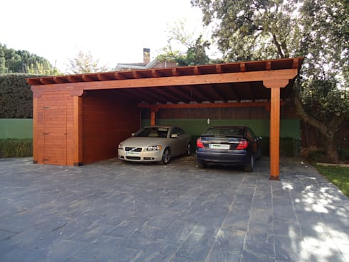 Garajes de madera de pergomadera p rgolas y porches de - Garajes para coches ...