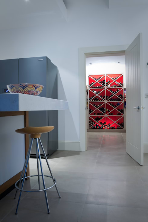 The Framed Kitchen : modern Wine cellar by Terry Design