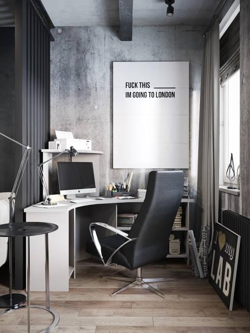 Projekty,  Domowe biuro i gabinet zaprojektowane przez Denis Krasikov