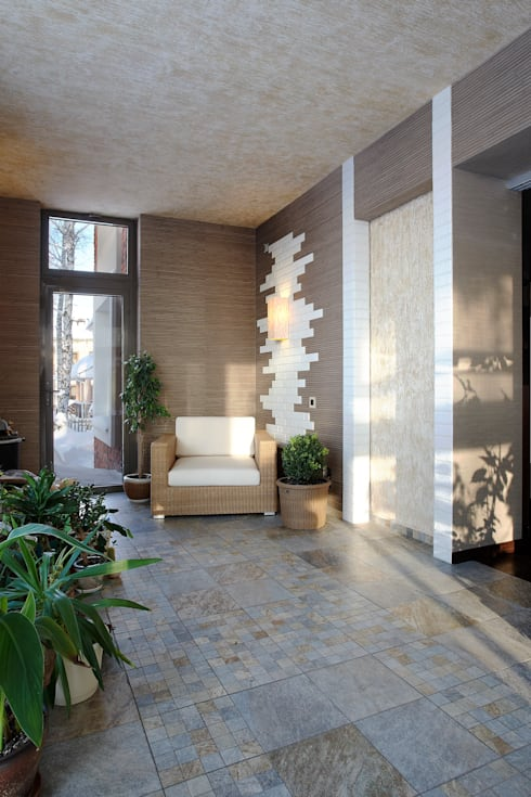 Зимний сад: Балкон, веранда и терраса в . Автор – Baydyuk Design Company