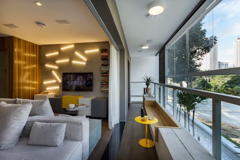 Just Married: Salas de estar modernas por Studiodwg Arquitetura e Interiores Ltda.