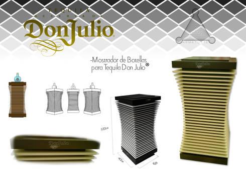 """stand tequila """"don julio"""": Oficinas y tiendas de estilo  por Armatoste studio"""
